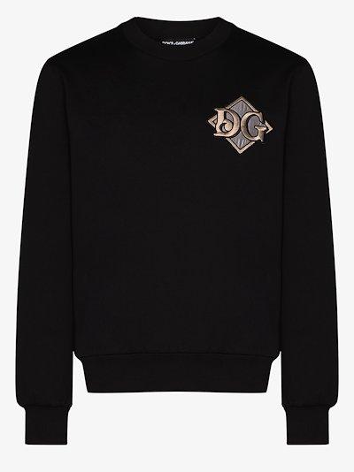 logo patch sweatshirt