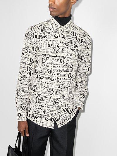 logo print cotton shirt