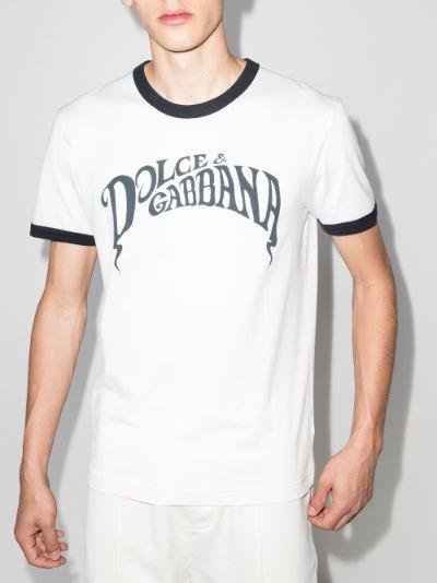 logo print ringer t-shirt