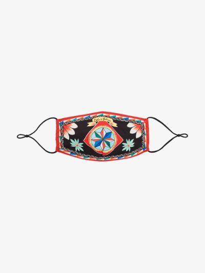multicoloured Carretto print face mask