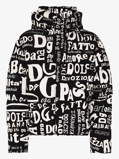 padded shell logo puffer jacket