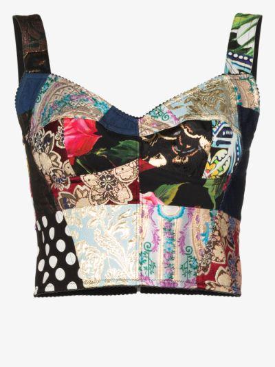 patchwork corset top
