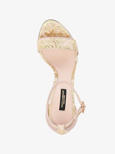 pink 110 DG baroque heel sandals