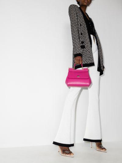 pink Sicily Medium leather tote bag