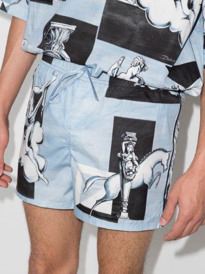 Printed track shorts
