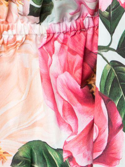 Tie Strap Floral Print Top
