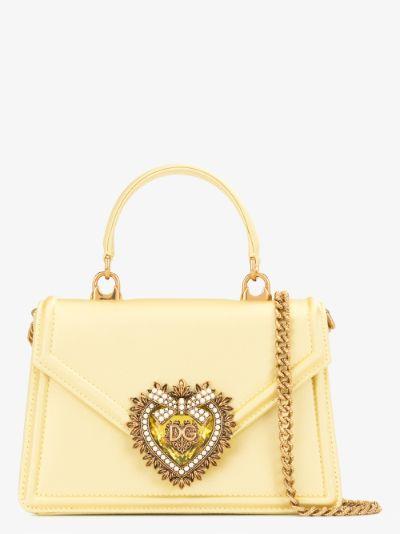 yellow Devotion small top handle bag
