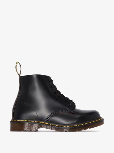 Black 101 vintage leather ankle boots