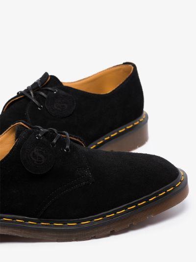 black 1461 suede Derby shoes