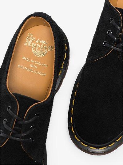 black 1461 suede oxford shoes