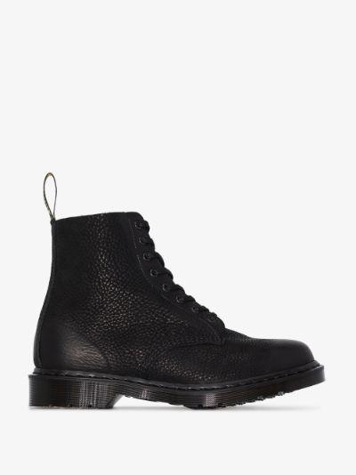 Black Titan leather boots