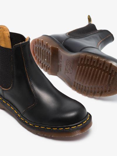 Black Vintage 2976 leather Chelsea boots