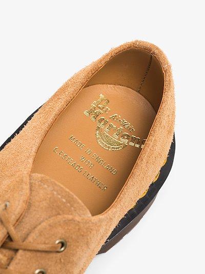 brown 1461 suede Derby shoes
