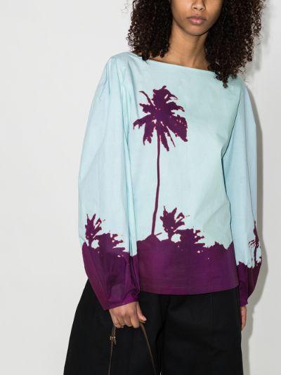 Cartley palm print blouse
