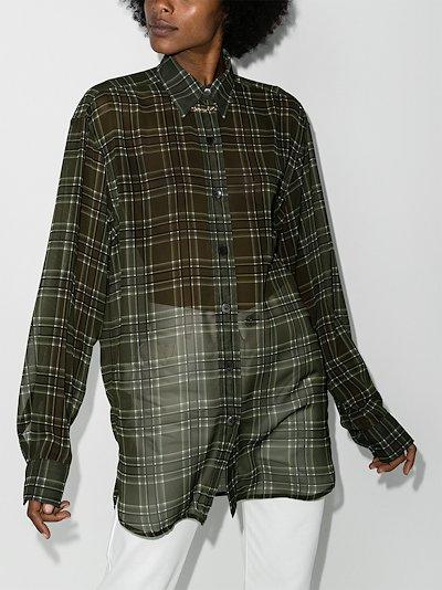 Cawry sheer checked shirt