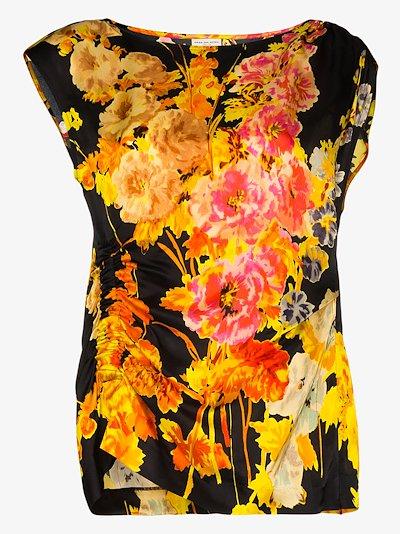 Ceto floral print blouse