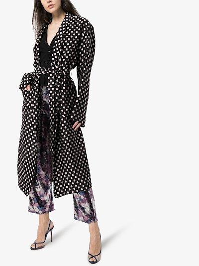 Charly polka dot coat