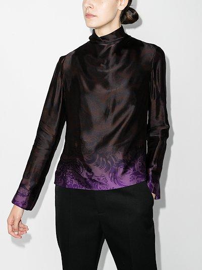 chiala high neck blouse