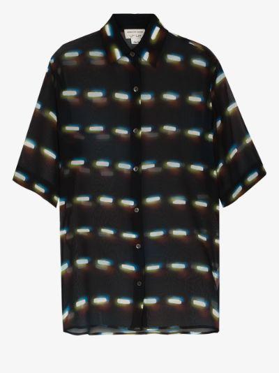 Clavelly short sleeve silk shirt