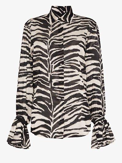 Clavelly zebra print cotton shirt