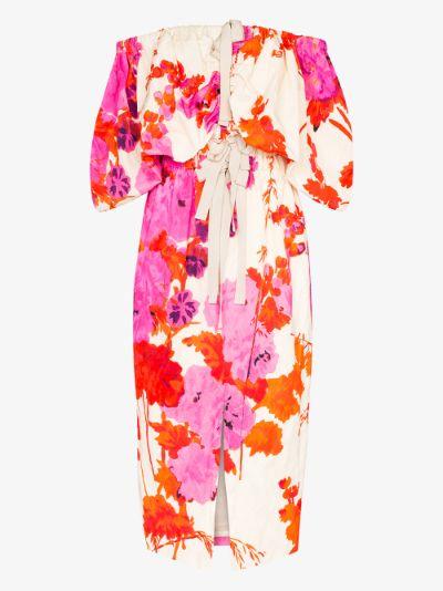 Dayna floral off-the-shoulder dress
