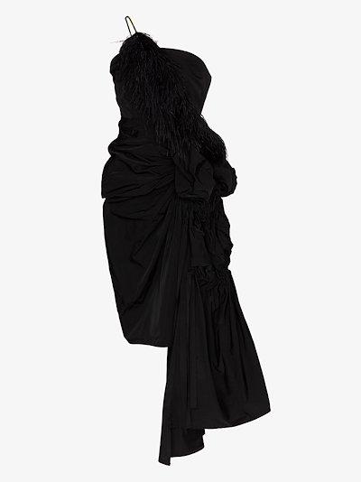 Ditomi asymmetric embellished dress