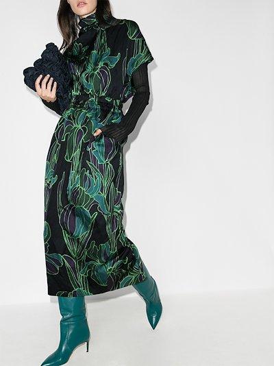 Doria floral midi dress