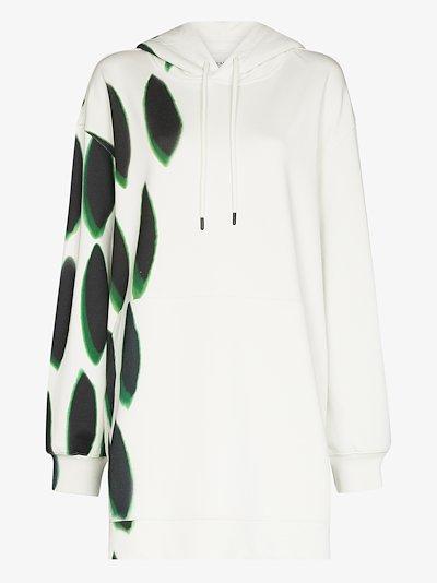 Drawstring printed oversized hoodie