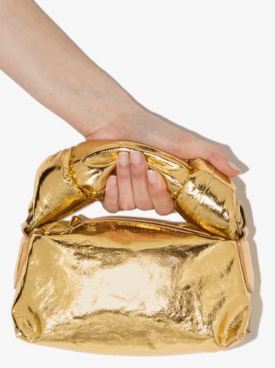 Gold leather mini bag