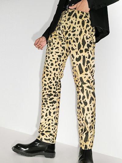 Pander leopard print jeans