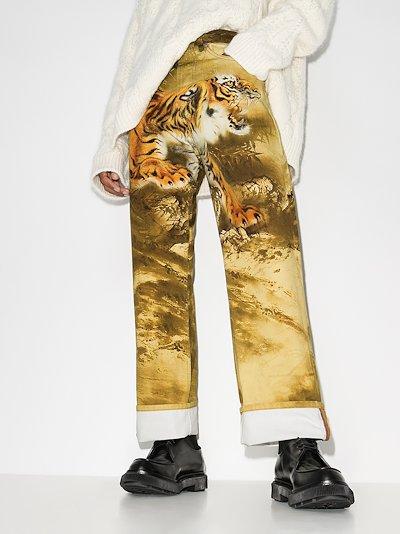 Panthero tiger print jeans