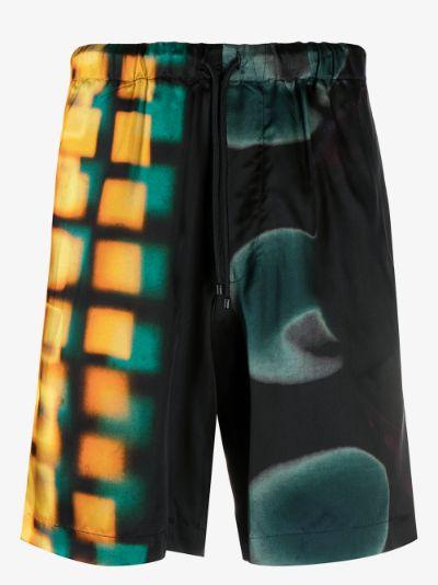 Piperi abstract print shorts