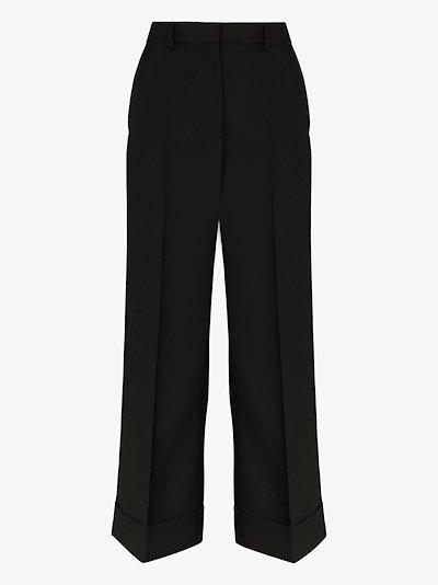 Poiretti wide leg cropped trousers