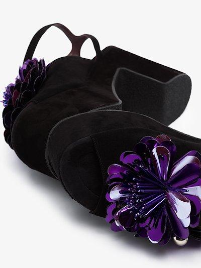 purple 60 floral suede platform sandals