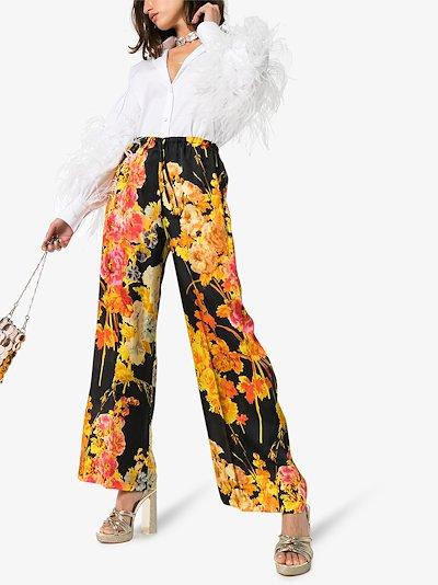 Puvis floral wide leg trousers