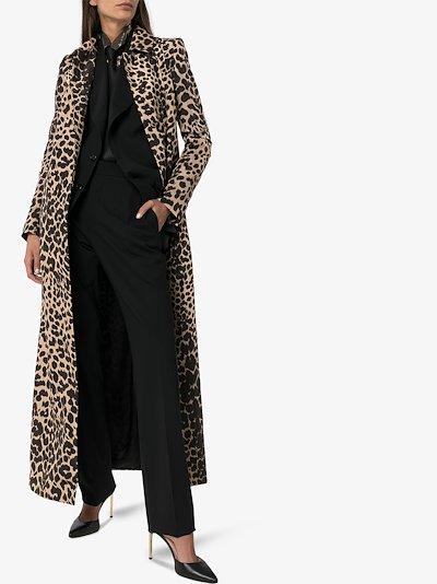 Raya long leopard print coat
