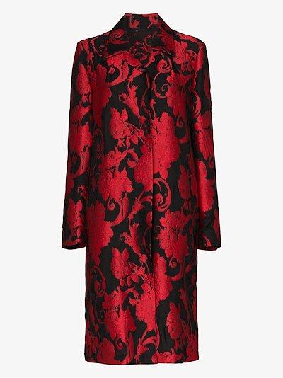 Rolta floral jacquard coat