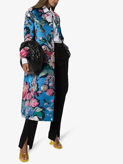 Ruberta floral jacquard coat