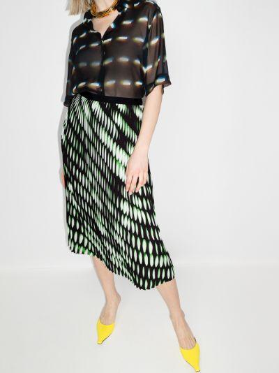 Sarean printed pleated skirt