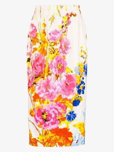 Sofya floral print midi skirt