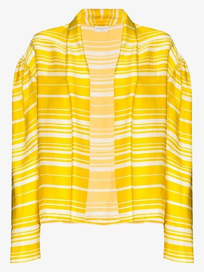 striped silk kimono jacket