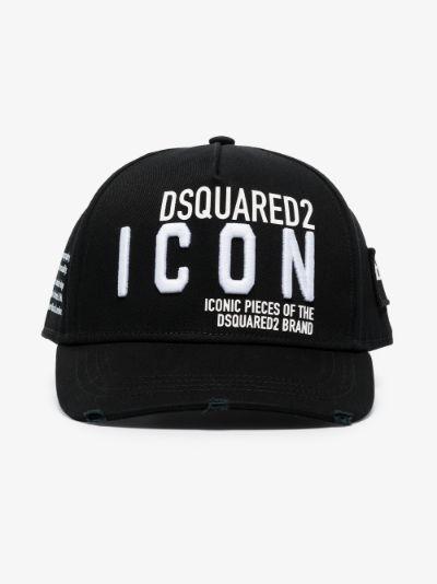 black Icon logo cotton cap
