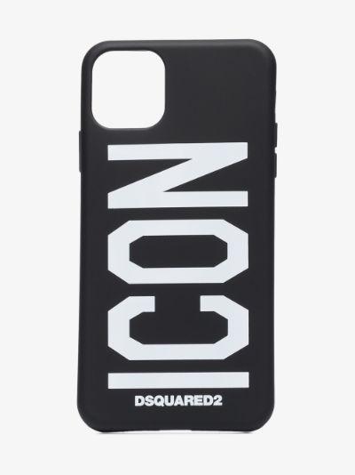 black Icon print iPhone 11 Pro Max case