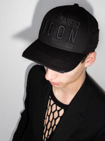 black Icon tonal logo cap