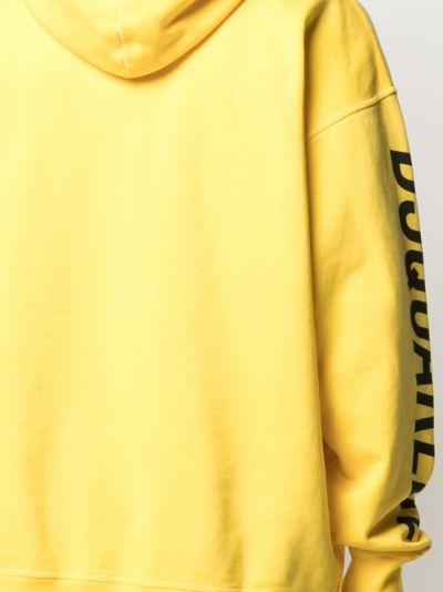 cotton print hoodie