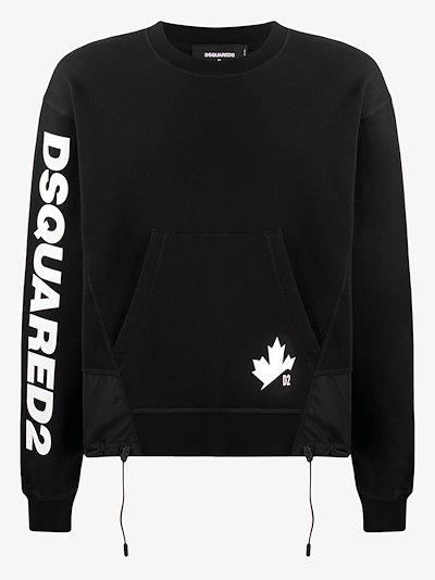D2 leaf logo sweatshirt