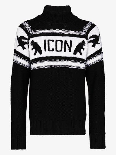 Icon logo virgin wool sweater