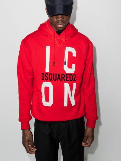 Icon print hoodie