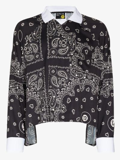 bandana 13 print shirt