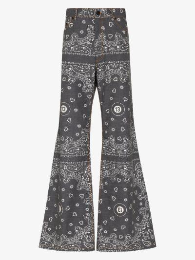 Bandana 13 Print Wide Leg Jeans